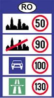 románia sebesség határok